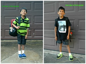 first day of school, last day of school, 3rd grade