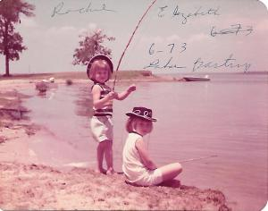 thowback thursday fishing sisters