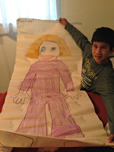 life size paper doll throwback thursday