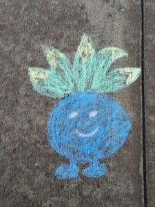 my life such as it is pokemon go oddish chalk art oyster creek park