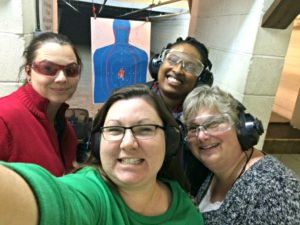 g2g gun range, my life such as it is, gno, girls night out