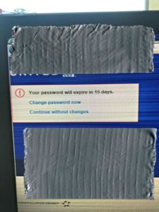 my life such as it is password needs changing