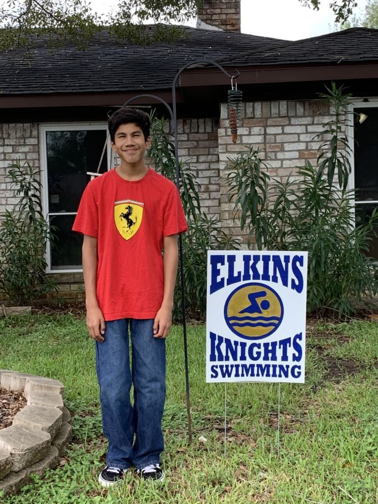 elkins high school swim team, ehs knights, team yard sign, charlie, mylifesuchasitis.com,