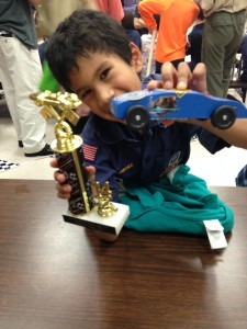 pinewood derby car the Bear Racer most cub like catagory winner